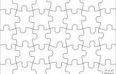 Printable Jigsaw Puzzle Templates Blank