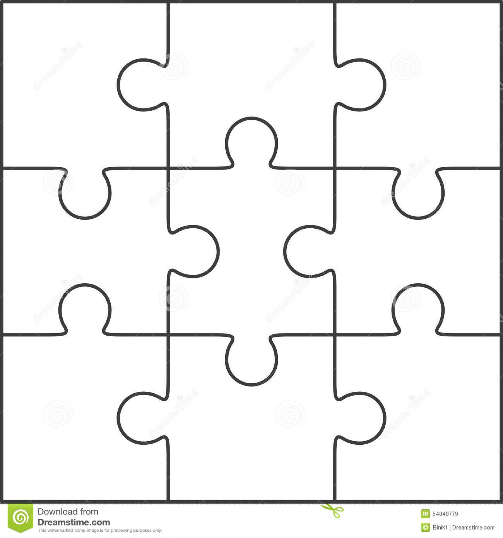 010 Jig Saw Puzzle Template Jigsaw Blank Twenty Pieces Simple Best - Printable Jigsaw Puzzle Templates Blank