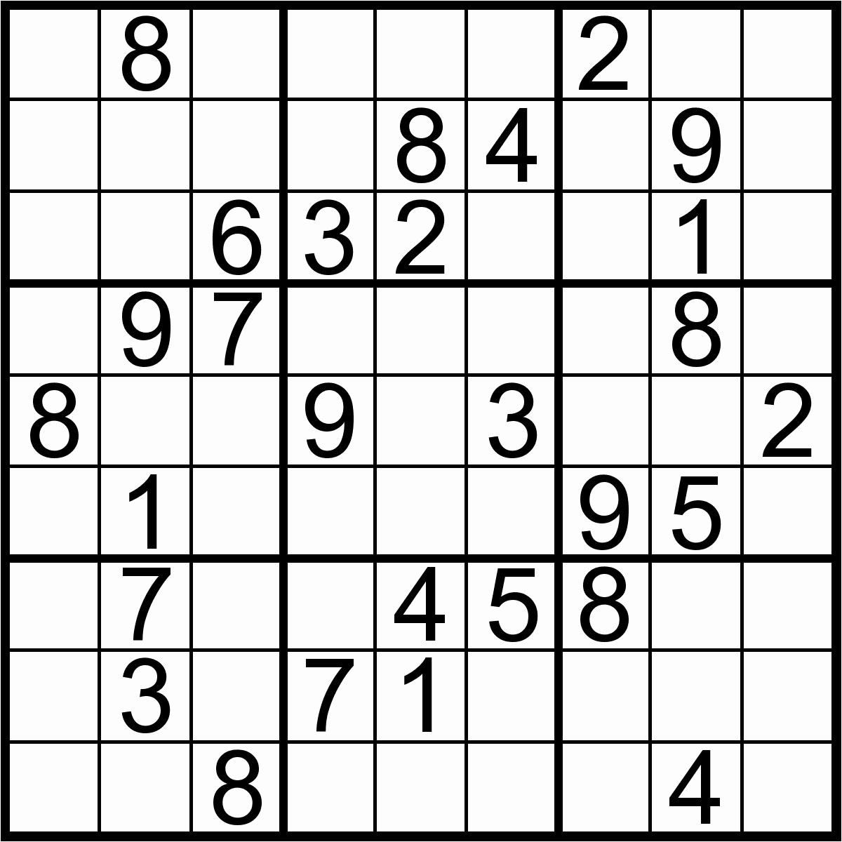 10@ Easy Sudoku Puzzles To Print | Logo Logo Site - Printable Sudoku Puzzle Easy