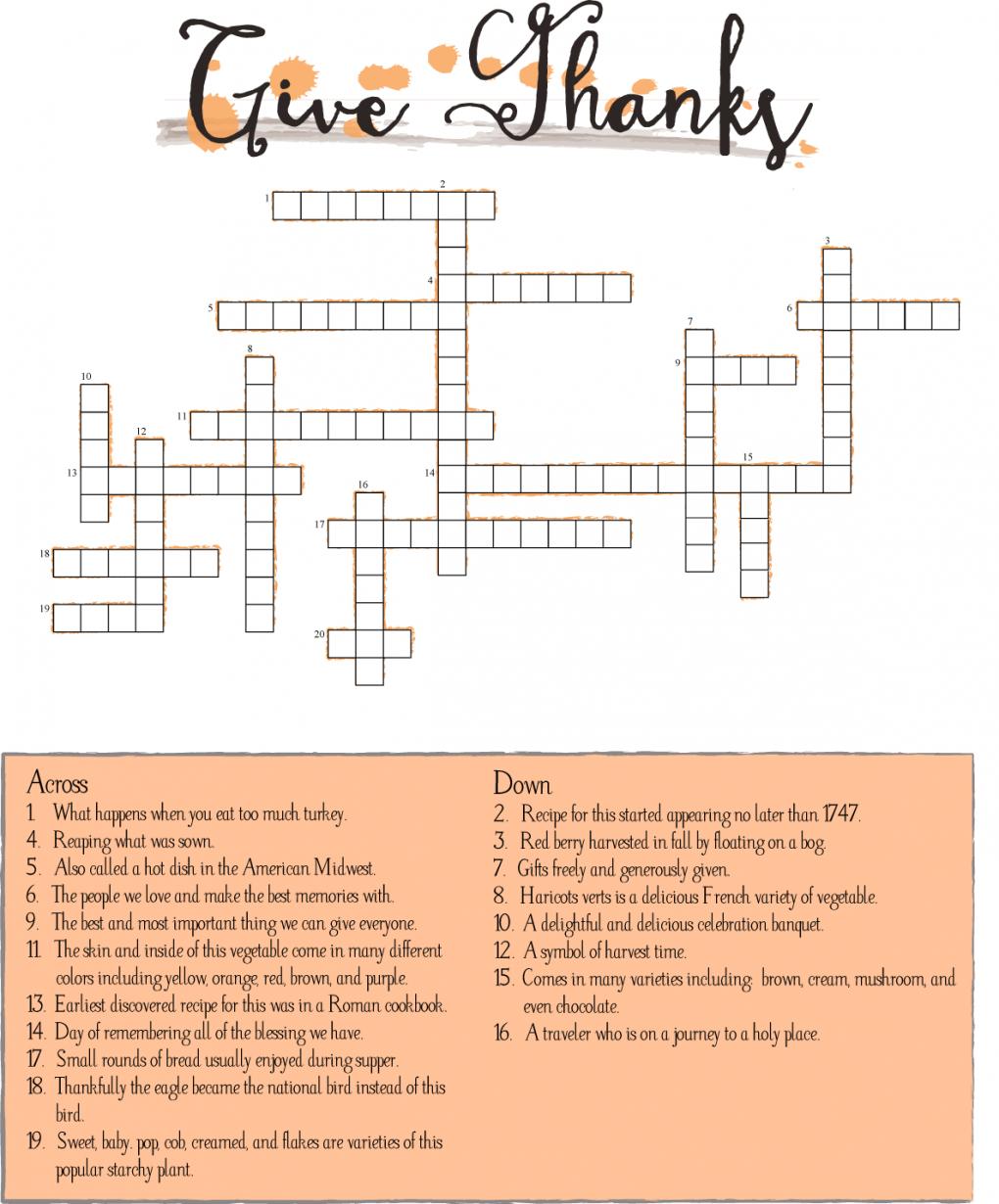 10 Superfun Thanksgiving Crossword Puzzles | Kittybabylove - Thanksgiving Crossword Puzzle Printable