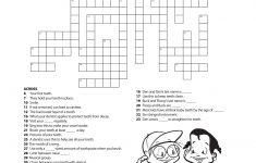 Printable Crossword For Grade 6