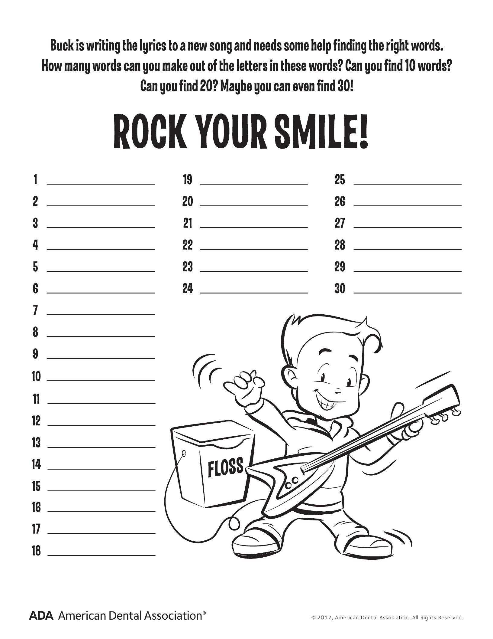 11 Dental Health Activities – Puzzle Fun (Printable) | Personal Hygiene - Printable Decoder Puzzles