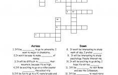 Esl Crossword Puzzles Printable