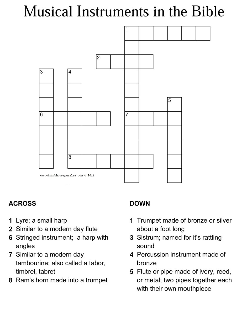 15 Fun Bible Crossword Puzzles | Kittybabylove - Printable Bible Crossword Puzzles With Scripture References