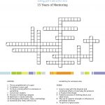 15 Years Of Mentoring   Crossword Puzzle   Kids Now   Printable Conflict Resolution Crossword Puzzle
