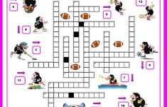 16 Free Esl Sports Crossword Worksheets – Free Printable Sports – Crossword Puzzles For Esl Students Printable