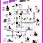 16 Free Esl Sports Crossword Worksheets   Free Printable Sports   Printable Sports Crossword Puzzles