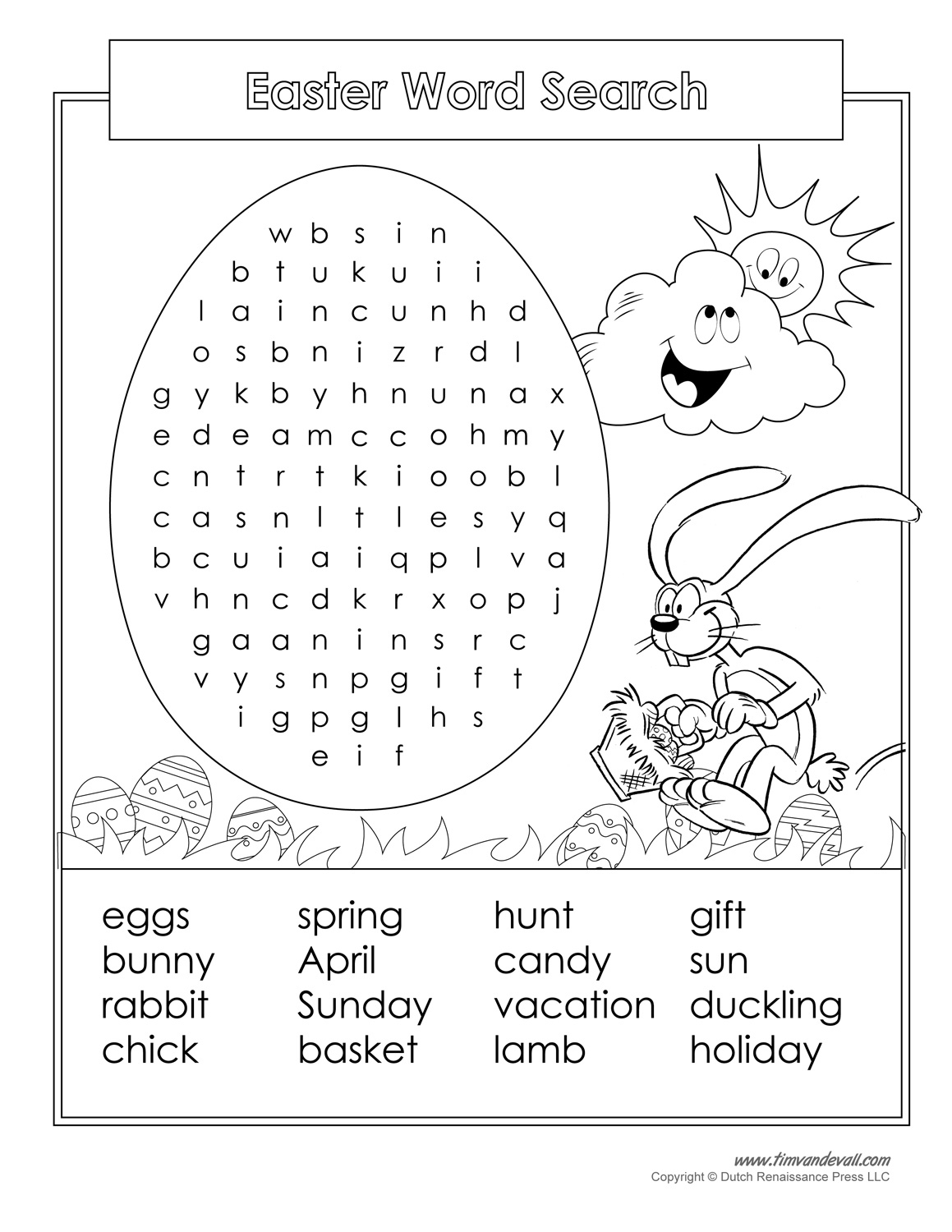 16 Printable Easter Word Search Puzzles | Kittybabylove - Free - Printable Easter Puzzles