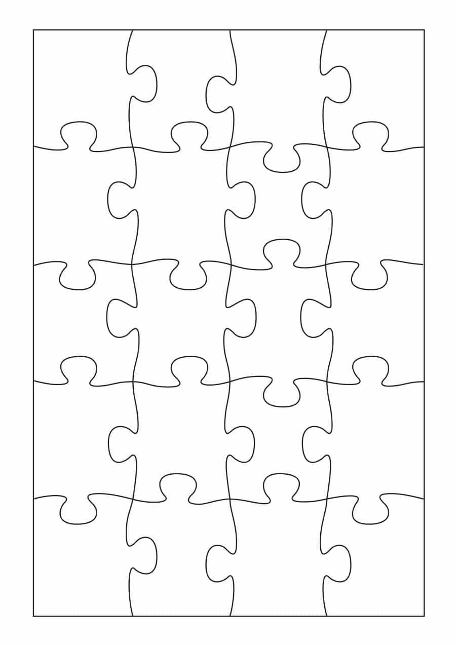 19 Printable Puzzle Piece Templates ᐅ Template Lab - Print On Puzzle Pieces