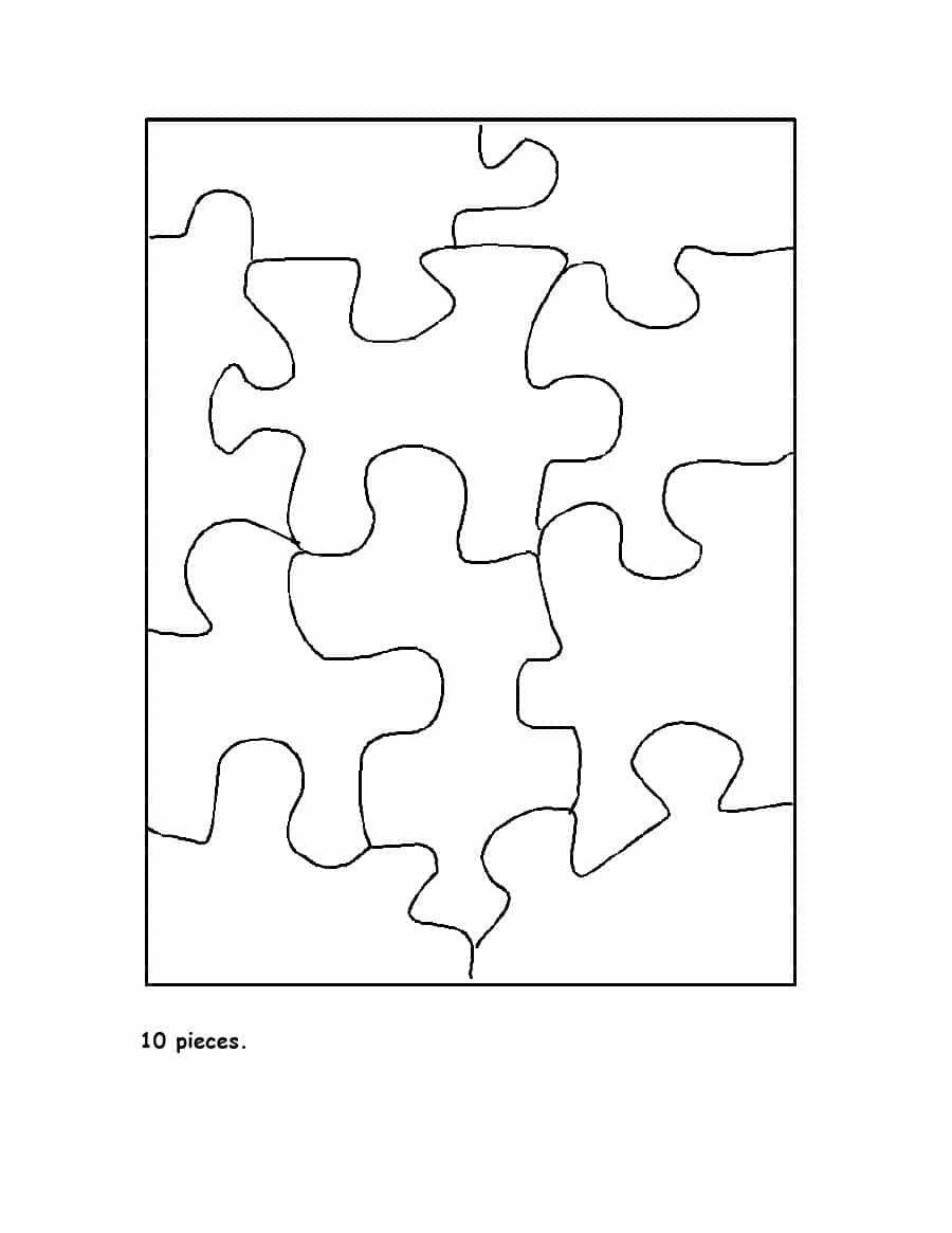 19 Printable Puzzle Piece Templates ᐅ Template Lab - Printable 9 Piece Puzzle