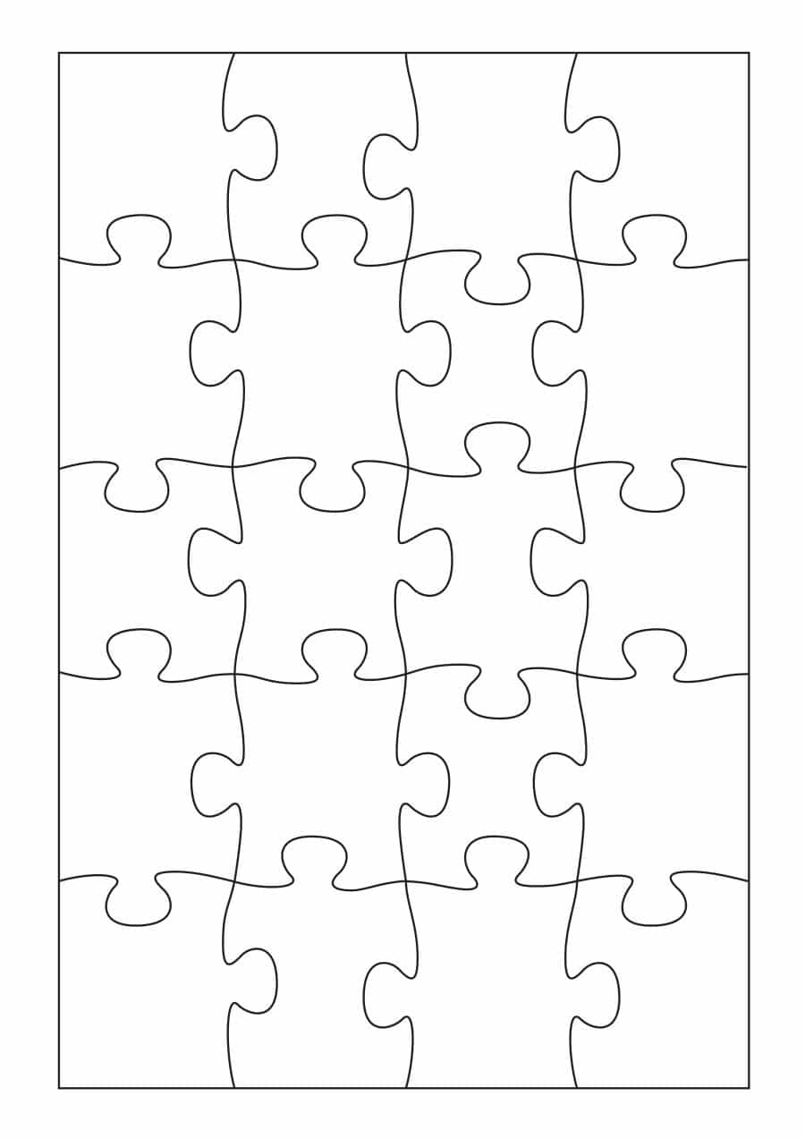 19 Printable Puzzle Piece Templates ᐅ Template Lab - Printable Cut Out Puzzles