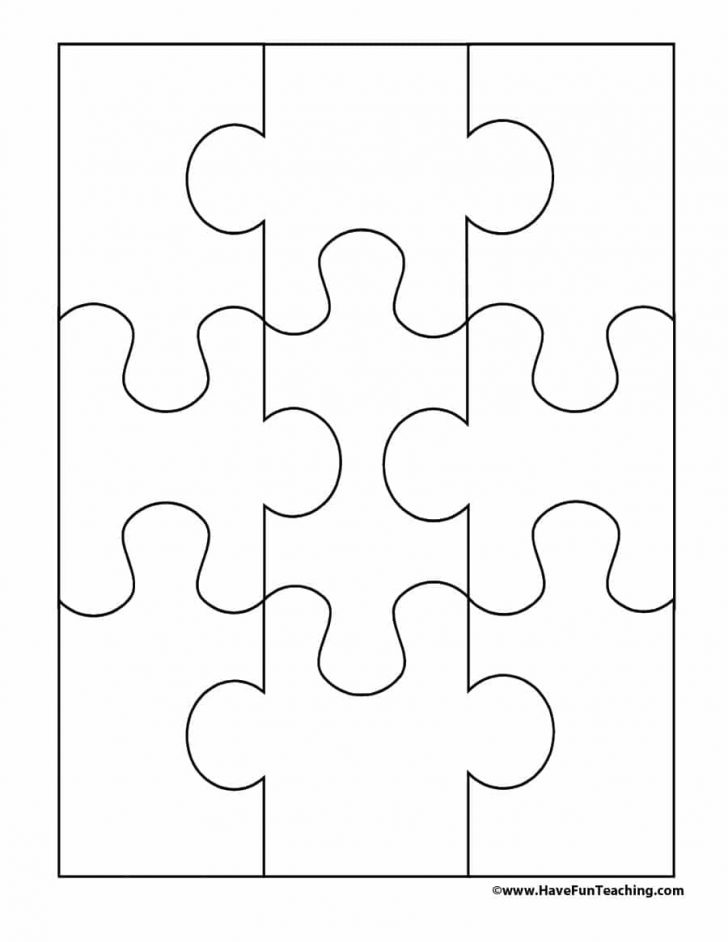 Printable Interlocking Puzzle Pieces