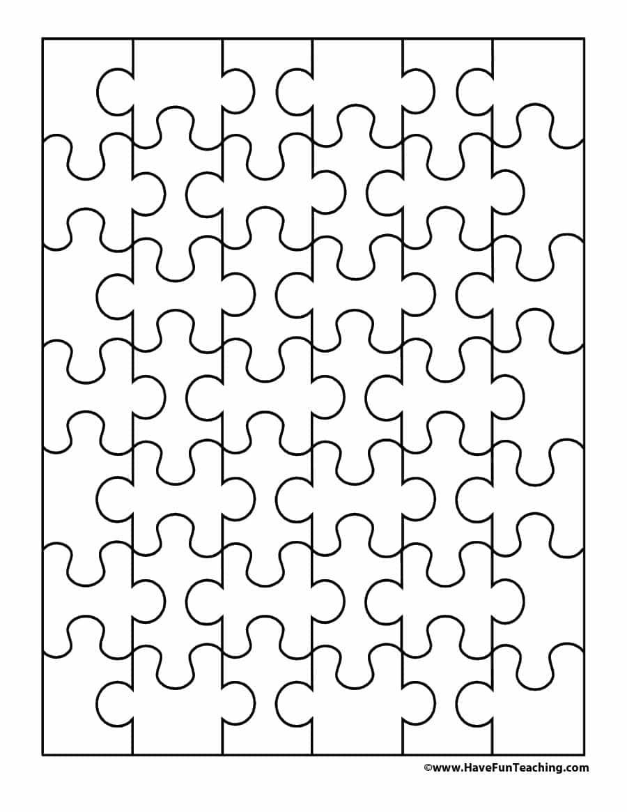 19 Printable Puzzle Piece Templates ᐅ Template Lab - Printable Interlocking Puzzle Pieces