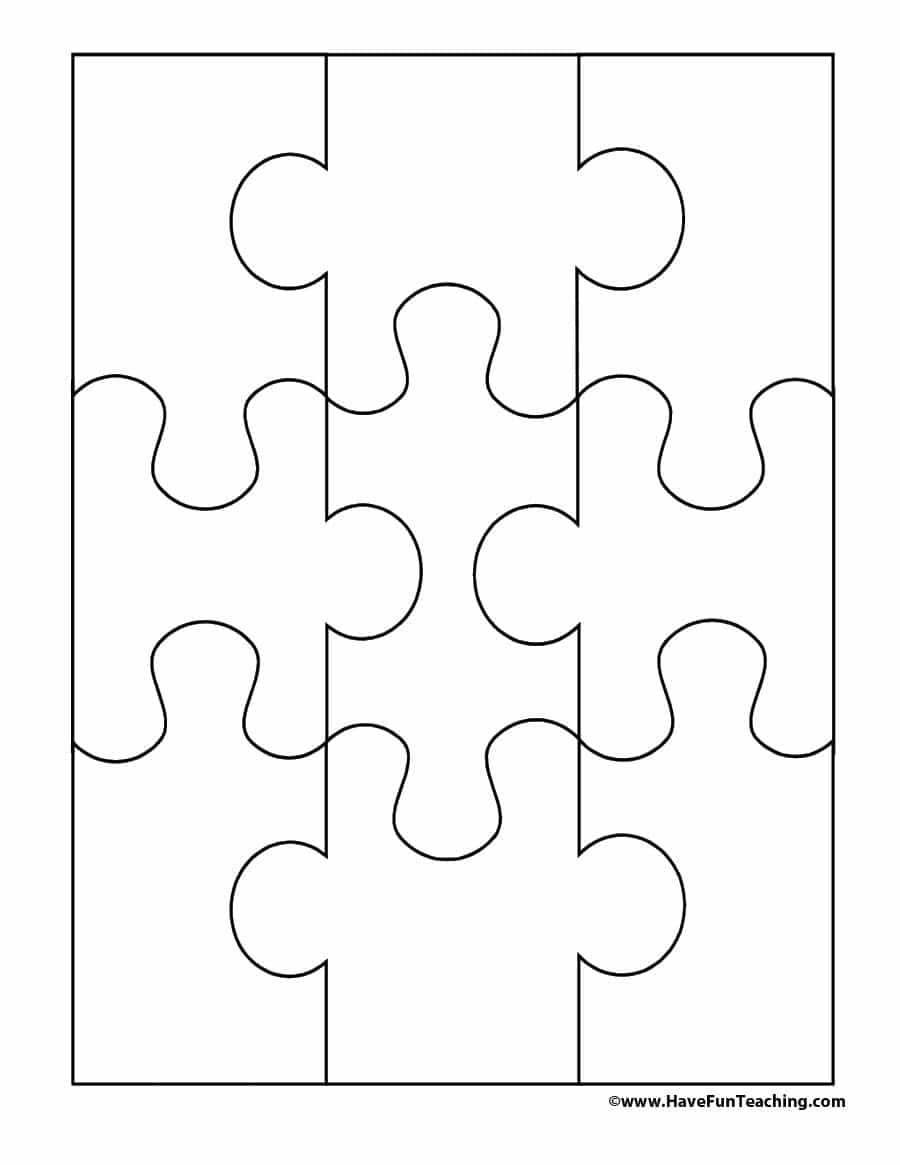19 Printable Puzzle Piece Templates ᐅ Template Lab - Printable Jigsaw Puzzle Shapes