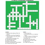 20 Fun Printable Christmas Crossword Puzzles | Kittybabylove   Christmas Crossword Puzzle Printable With Answers