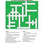 20 Fun Printable Christmas Crossword Puzzles | Kittybabylove   Printable Xmas Puzzles