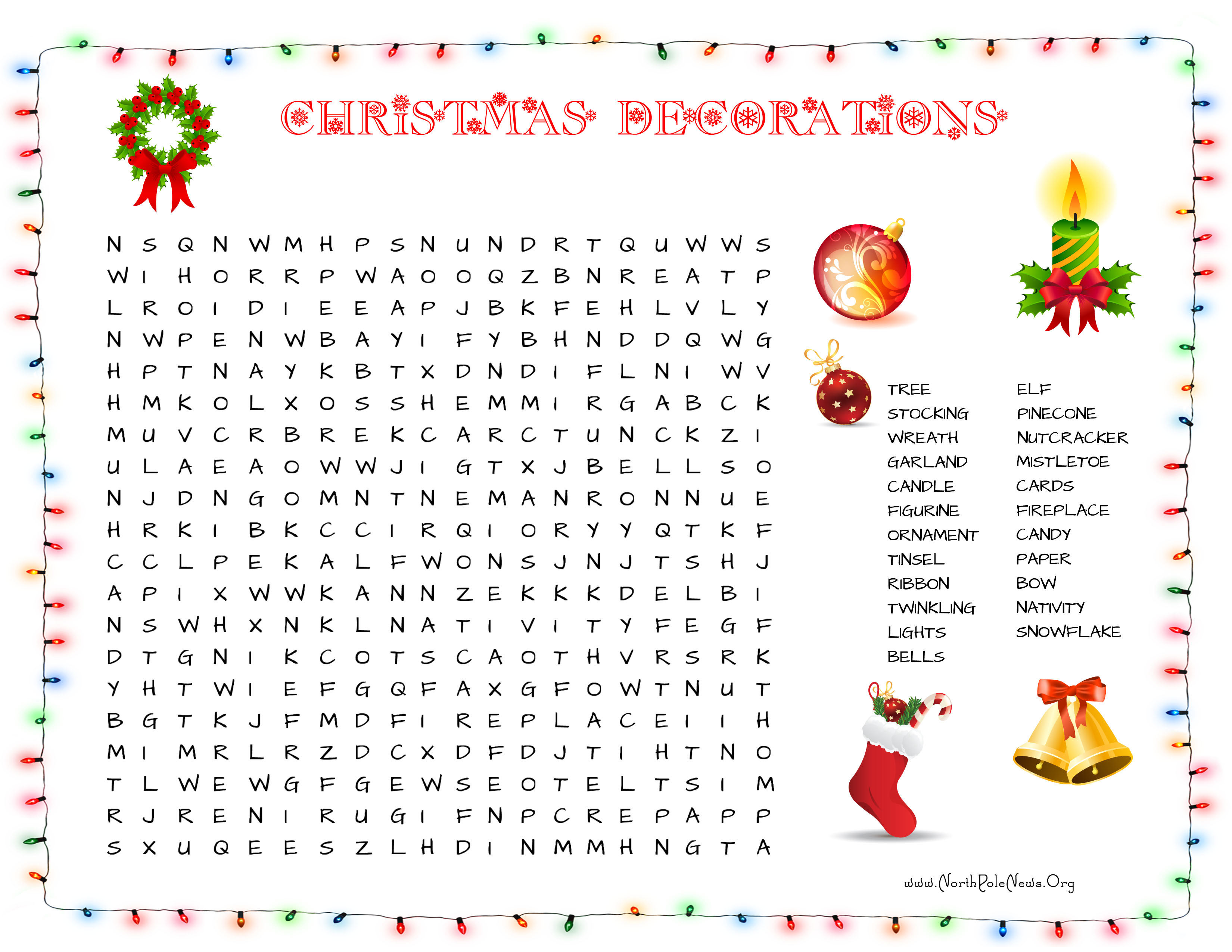 31 Free Christmas Word Search Puzzles For Kids - Printable Santa Puzzle