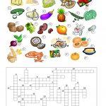 32 Free Esl Food Crossword Worksheets   Printable Food Puzzle