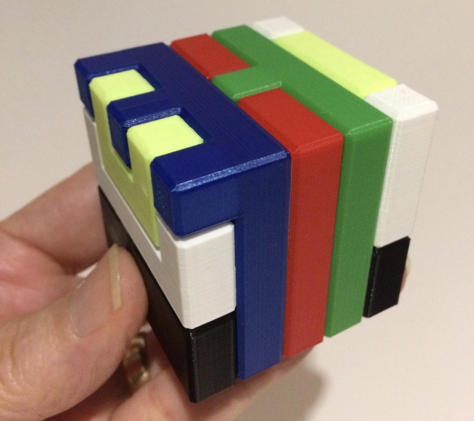 3D Printed Printable Interlocking Puzzle #4 - Level 11Richgain - Printable Burr Puzzle