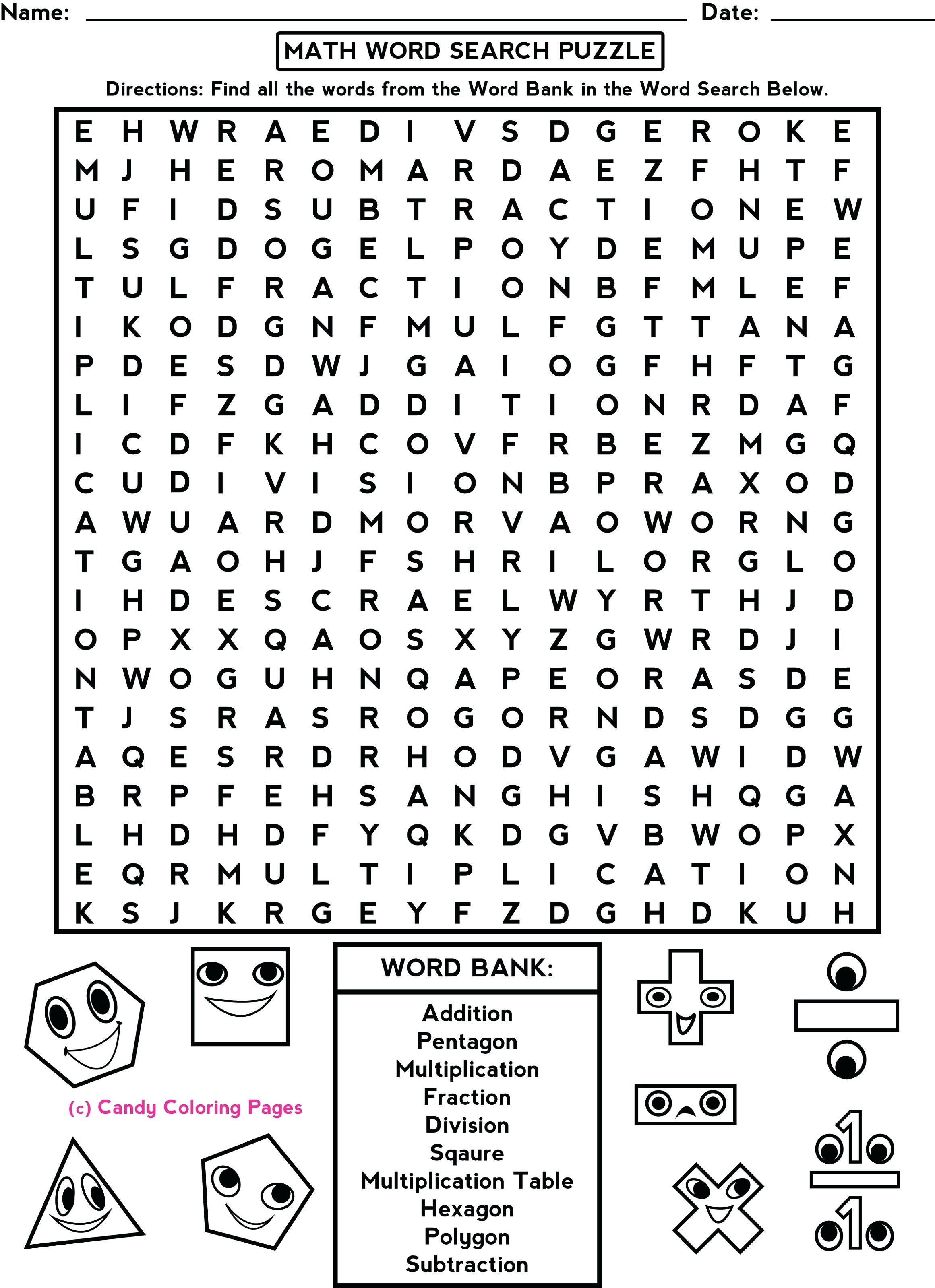 4Th Grade Math Puzzles Fun Worksheets For Middle School Sear On - Printable Math Puzzle Worksheets