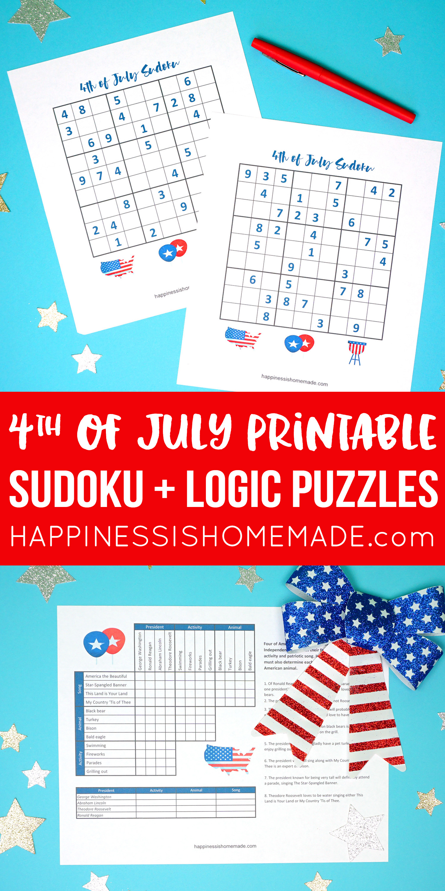 4Th Of July Word Search Printable - Happiness Is Homemade - Printable Office Puzzles