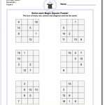 4X4 Magic Square Normal Set 1 Worksheet #magic #square #worksheet   Printable Sudoku Puzzles 4X4