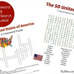 50 States Printable   Reading Comprehension, Games, And More   Printable 50 States Crossword Puzzles