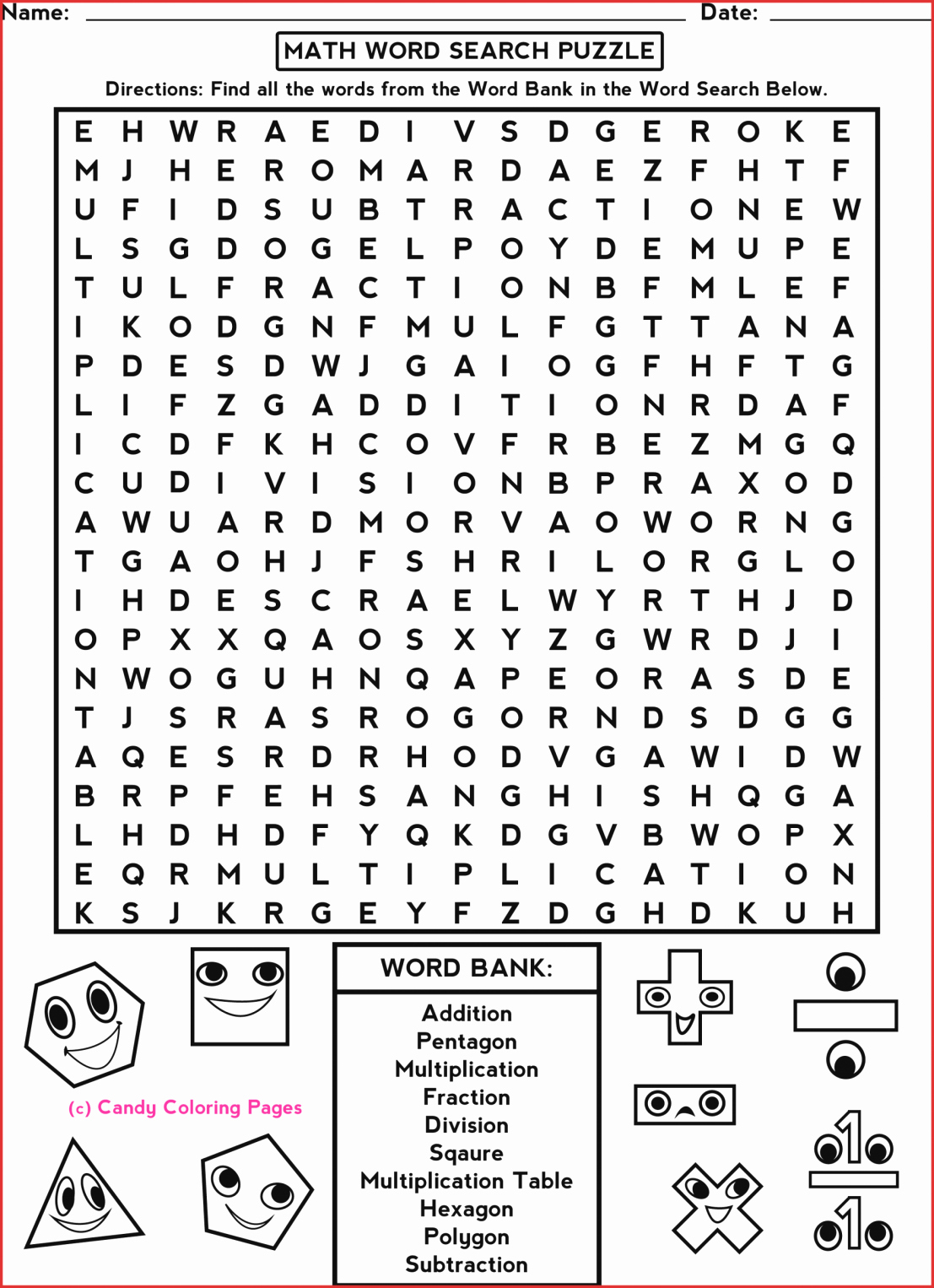 7Th Grade Crossword Puzzles Fresh 7Th Grade Math Word Search - Printable Crossword Puzzles For 3Rd Graders