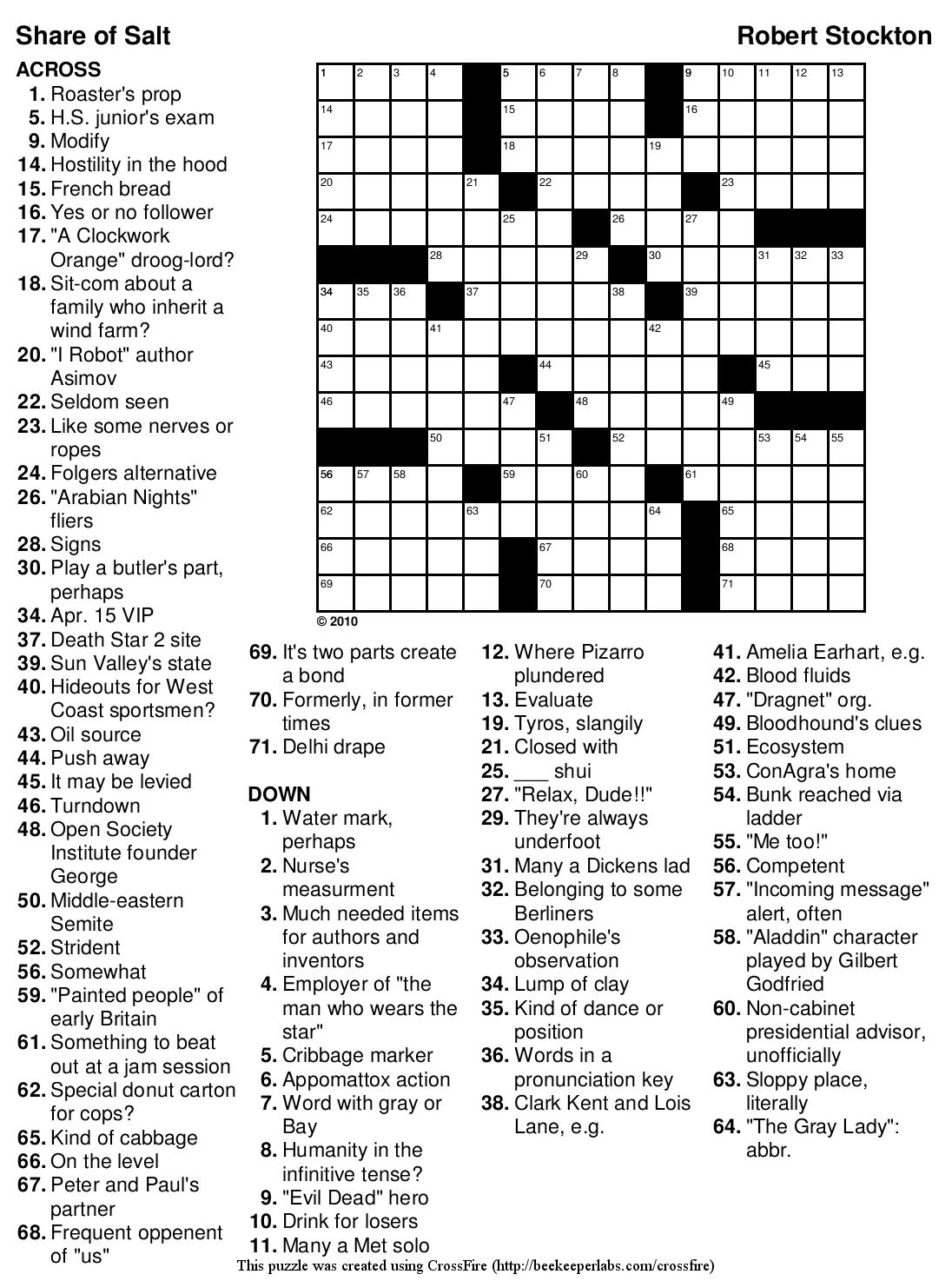 9 Best Photos Of Nfl Crossword Puzzle Printable - Nfl Printable - Football Crossword Puzzle Printable