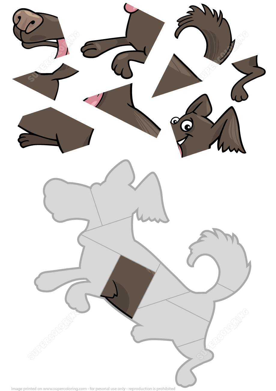 9 Piece Jigsaw Puzzle With A Cute Dog Pet | Free Printable Puzzle Games - Printable Dog Puzzles