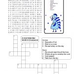 A Cold Walk But Worth It Sunday School Lesson Turkey Thanksgiving   Christian Thanksgiving Crossword Puzzles Printable