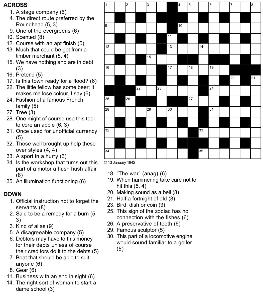 A Cryptic Tribulation Turing Test Crossword Puzzle - Printable Cryptic Crossword