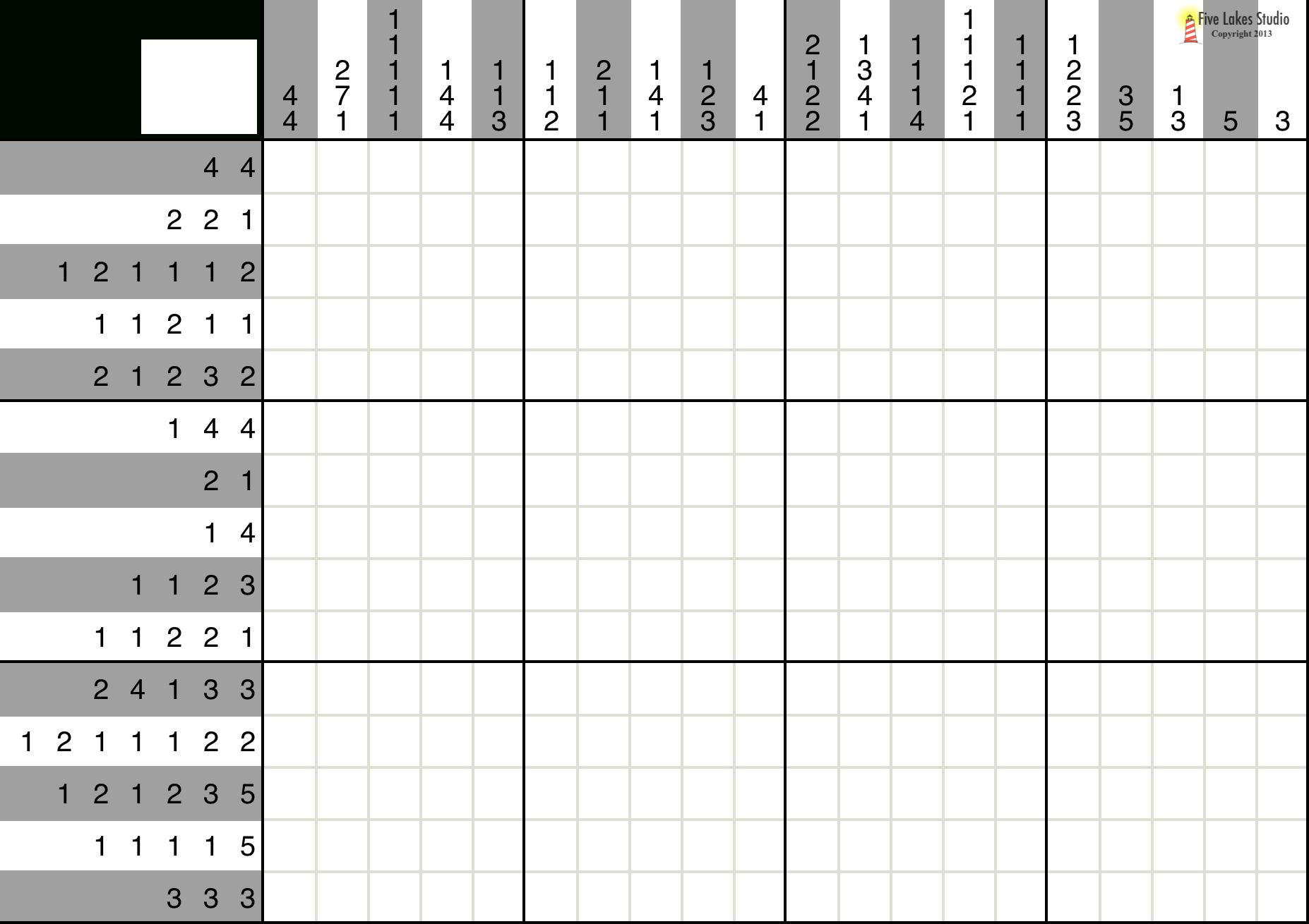 A Fun Picross Puzzle You Can Play With Pen And Paper Or With An Ipad - Printable Hanjie Puzzle