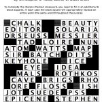 A Literary Crossword Puzzle From Thriller Author Christopher J   Literature Crossword Puzzles Printable
