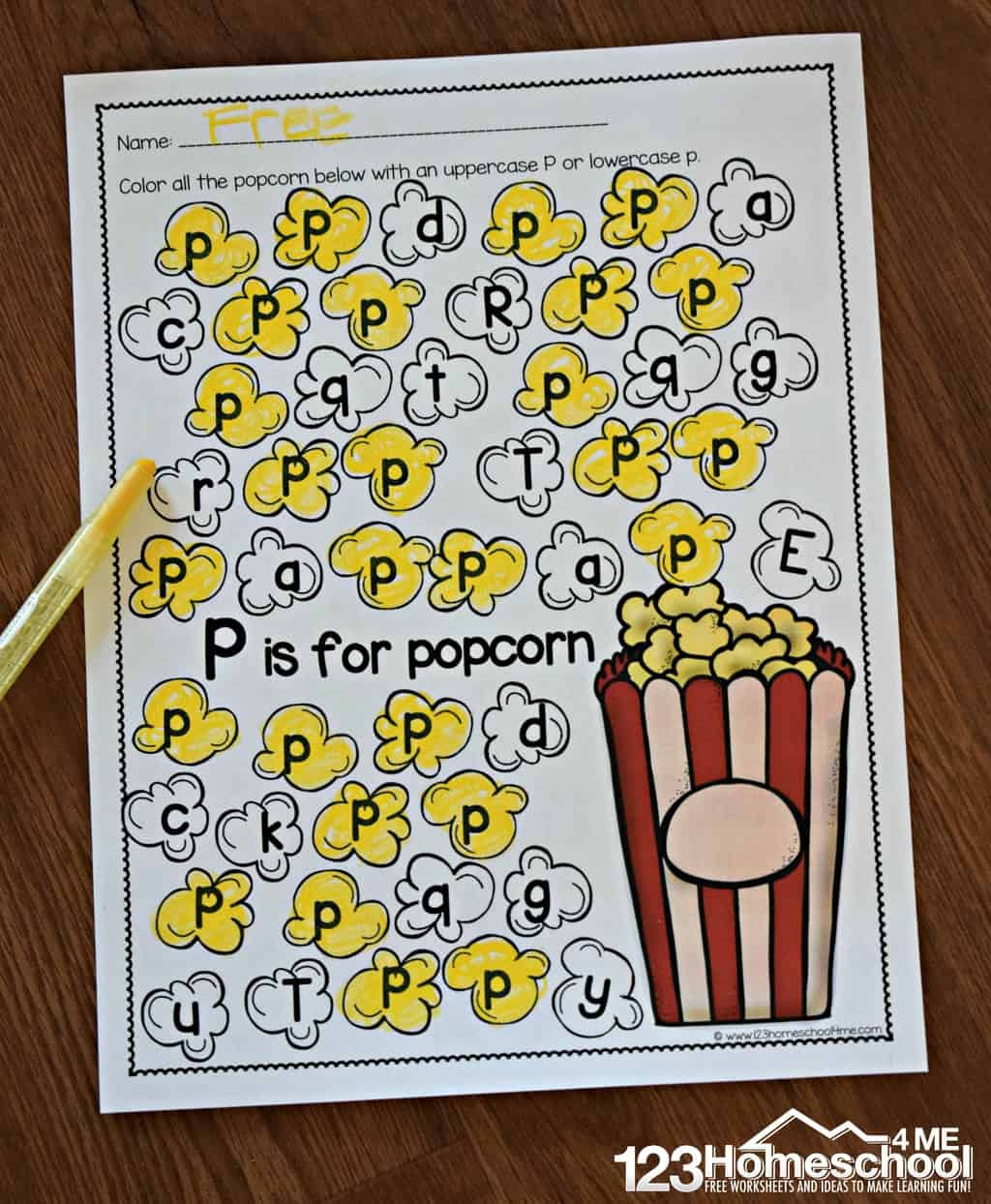 A To Z Letter Find   123 Homeschool 4 Me - Letter P Puzzle Printable