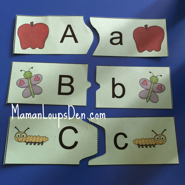 Abc Printable Puzzle – Maman Loup's Den - Printable Abc Puzzle