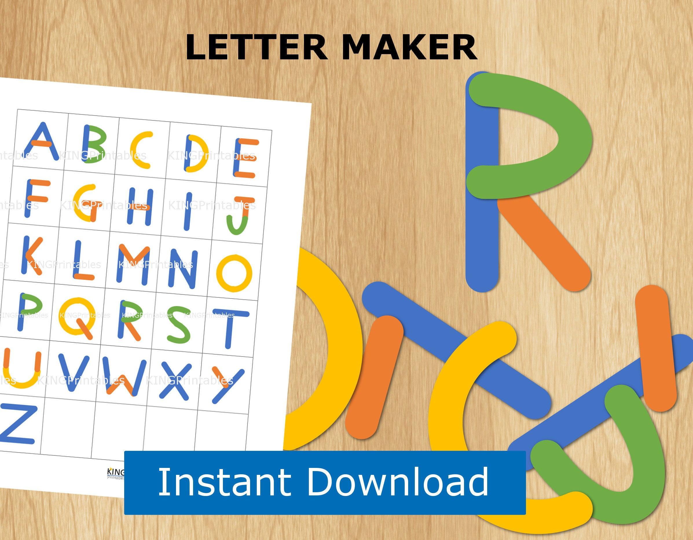 Abc Puzzle Preschool Printable Alphabet Letter Builder File | Etsy - Printable Abc Puzzle