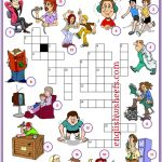 Action Verbs Esl Printable Crossword Puzzle Worksheets For Kids   Crossword Puzzle Verbs Printable