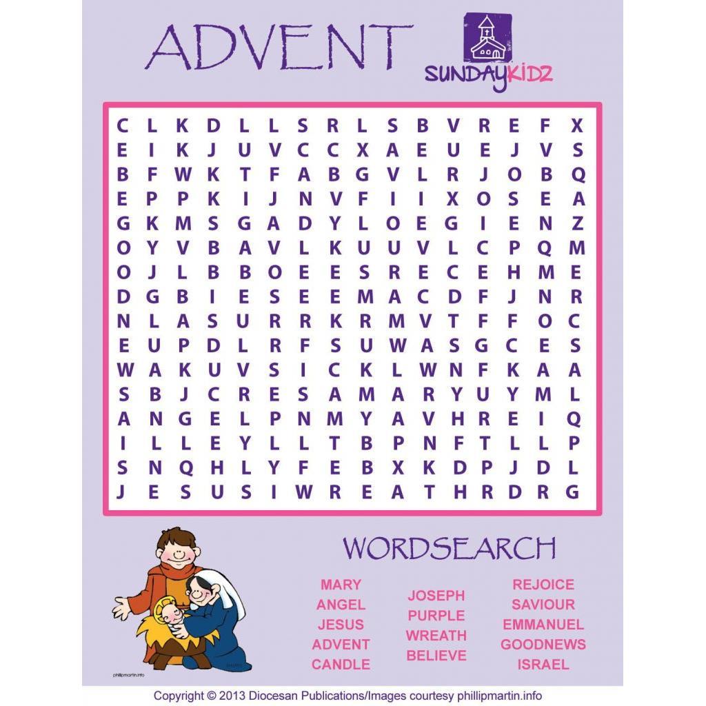 Advent/christmas – Diocesan - Printable Advent Puzzle