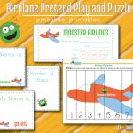 Airplane Free Pretend Play Printables And Math Puzzle For Toddlers   Printable Puzzle For Toddlers