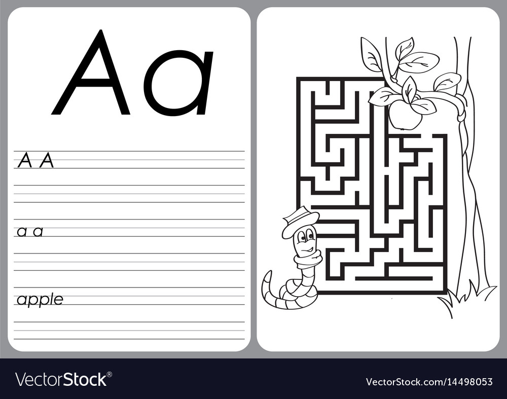 Alphabet A-Z - Puzzle Worksheet - Coloring Book Vector Image - Worksheet On Puzzle