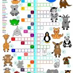 Animals   Crossword Worksheet   Free Esl Printable Worksheets Made   Printable Crossword Puzzles About Animals