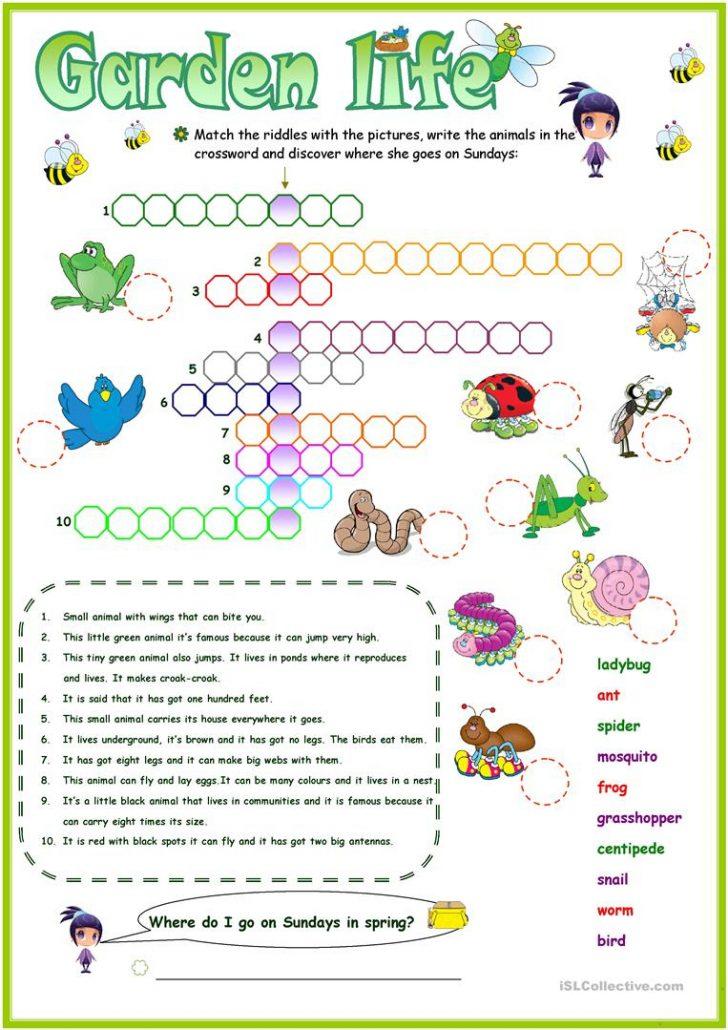 Printable Garden Crosswords