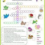 Animals In The Garden Crossword Worksheet   Free Esl Printable   Printable Gardening Crossword Puzzle