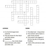 Animals Puzzle   Printable Crossword Puzzles About Animals