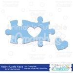 Autism Heart Puzzle Piece   Sofontsy   Printable Puzzle Piece Autism