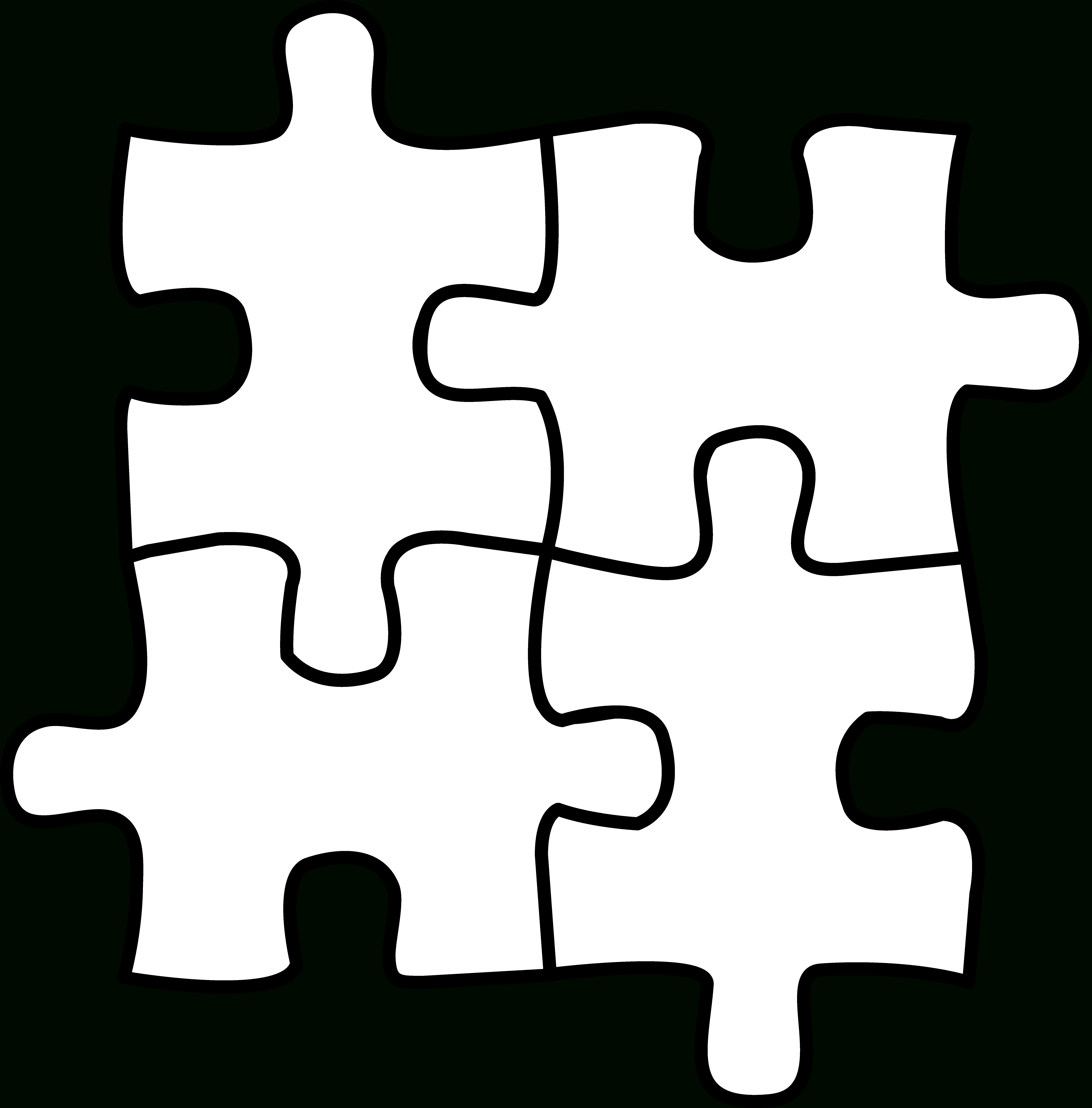 Autism Puzzle Piece Coloring Page - Coloring Home - Printable Colored Puzzle Pieces