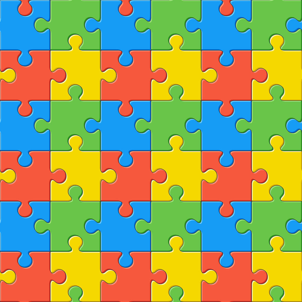 Autism Puzzle Printed Vinyl Htv Pattern Vinyl | Etsy - Puzzle Print Htv