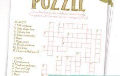 Printable Baby Crossword Puzzles