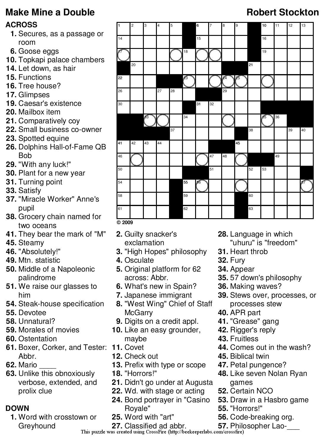 Beekeeper Crosswords - 7 Printable Crosswords